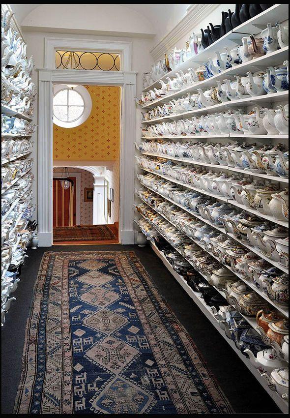 Philip's room full of teapots                                                                                                                                                                                 More