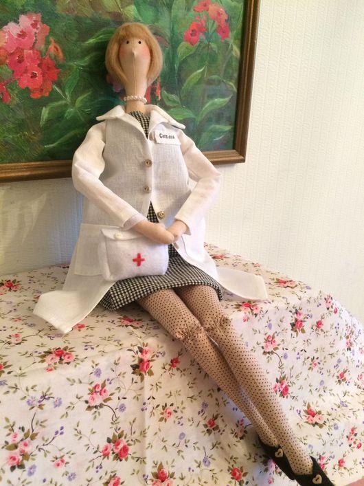 """Куклы Тильды ручной работы. Ярмарка Мастеров - ручная работа. Купить Кукла Тильда портретная """" Медсестра"""". Handmade."""