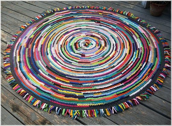 rag rug 70 inches large round multi color with by