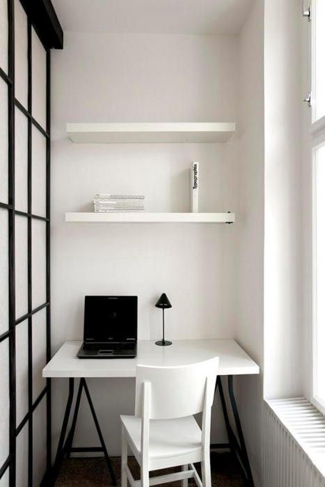 Creepily empty - but I love the idea of the rice-paper wall to create a nook. Another studio idea.
