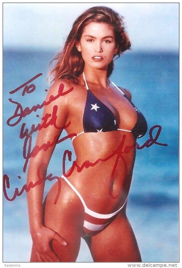 "Original autograph American supermodel - leading MTV - the actress Cynthia Crawford ""Cindy"" Ann."