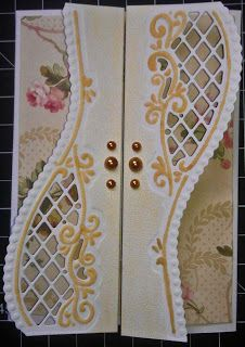 I want to learn how to make this! It is beautiful and look at the Anna paper behind the gate doors! Great inspiration!
