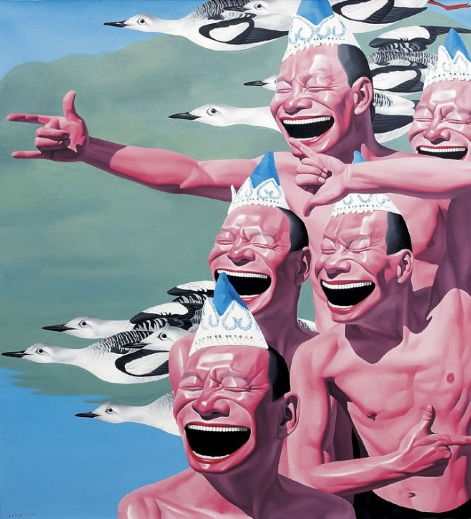Juxtapoz Magazine - The Work of Yue MinJun