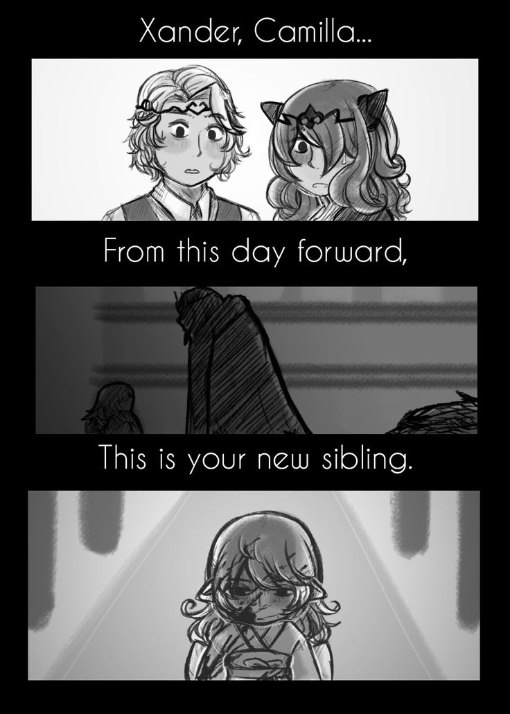 "This is beautiful! Probably my favourite interpretation of how Corrin was introduced to Xander and Camilla, I love the third image, where Corrin/Kamui is standing with the blood of her ""father"" (anyone who knows of Corrin/Kamui's origins/married Ryoma, Takumi, Hinoka or Sakura will understand why I used quotation marks)."