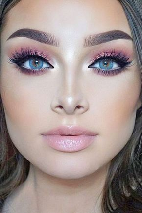 Charming Rose Gold Makeup Looks from Day to Night ★ See more: http://glaminati.com/charming-rose-gold-makeup-looks/ #makeuplooksprom