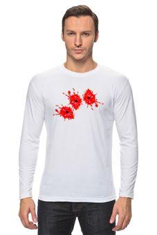 """Лонгслив """"Растреляли"""" - прикольные, новинки, оригинально, футболка мужская"""