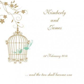 Romeo and Juliet Square Vertical Invitation in Classic Gold 60 - DreamDay Wedding Invitations