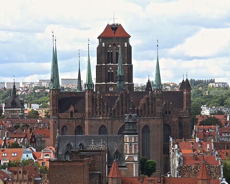 Bazylika Mariacka widziana z góry | #gdansk #sightseeing