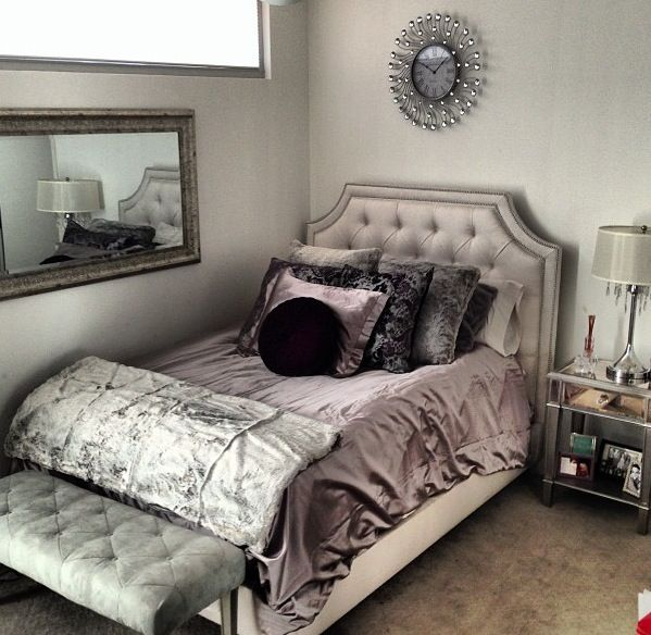 19 best images about posh bedrooms on pinterest grey for Posh bedroom designs