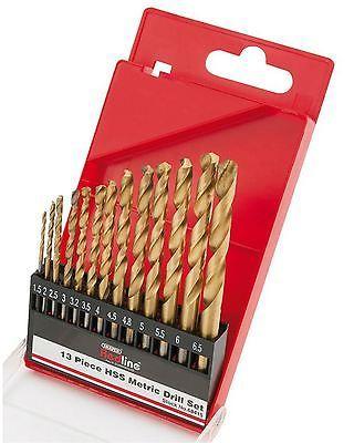 Draper 13 Piece HSS Metric Twist Drill Bit Set Titanium Nitride Coated Metal http://www.ebay.co.uk/itm/Draper-13-Piece-HSS-Metric-Twist-Drill-Bit-Set-Titanium-Nitride-Coated-Metal-/232132879823 #drillbits