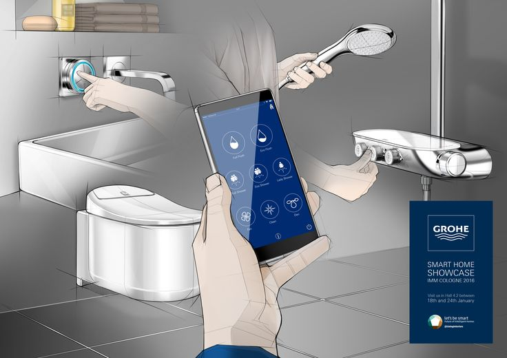 GROHE Smart Home #smartcontrol #immcologne #sketch #designsketch #idsketch #productdesign #GROHEdesign