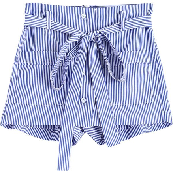 Striped Shorts with Pockets ($12) ❤ liked on Polyvore featuring shorts, gamiss, stripe shorts, pocket shorts and striped shorts