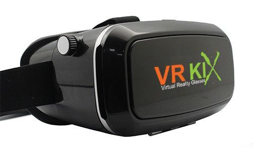 VRKiX Virtual Reality Headset for Smartphones (Charcoal)