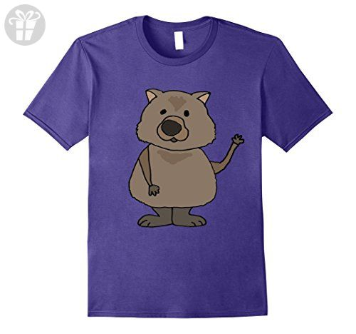 mens smilemoretees funny wombat cartoon t shirt xl purple