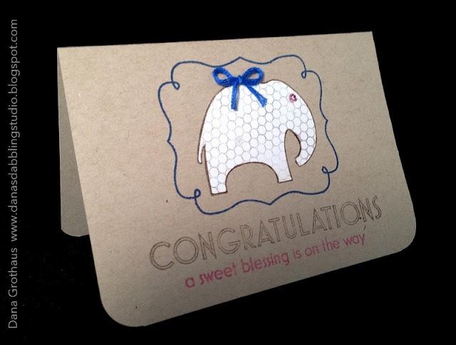 Dana's Dabbling Studio: A Pregnancy {Congratulations} Card...