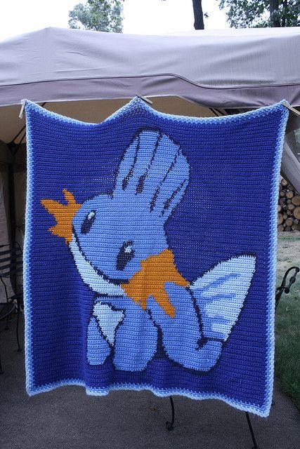 Mudkip Pokemon Blanket Crochet Pattern (free)