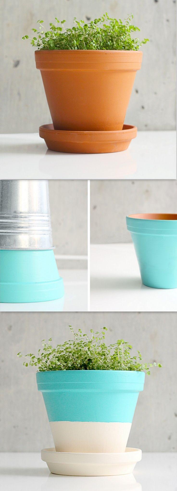 best 25 painting terracotta pots ideas on pinterest. Black Bedroom Furniture Sets. Home Design Ideas