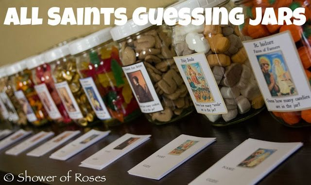 Shower of Roses: All Saints' Party Games :: Saint Themed Guessing Jars