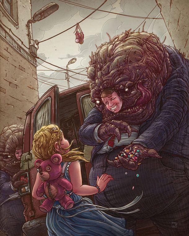 illustrations by Polish illustrator Michal Dziekan
