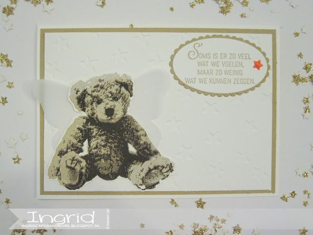 Ingridcardsandmore, Stampin' Up!, Baby Bear, Condoleance, Butterfly