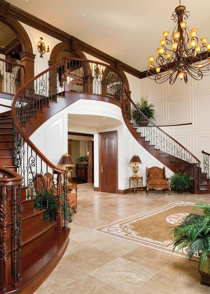 37 Amazing Double Staircase Design Ideas With Luxury Look ...