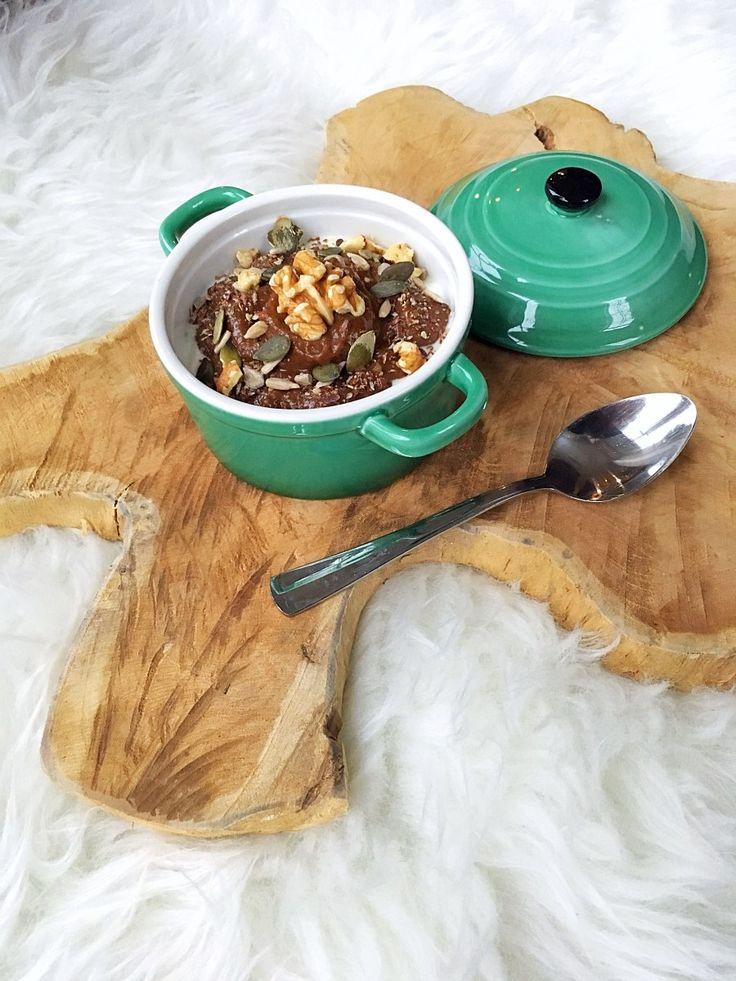 ❤ Ontbijttip ;; Griekse yoghurt met chocolade avocado mousse