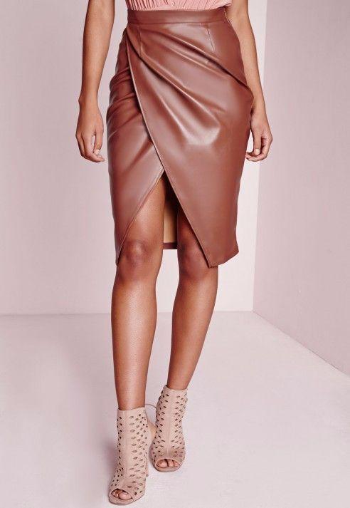 Leather Short Midi Skirts