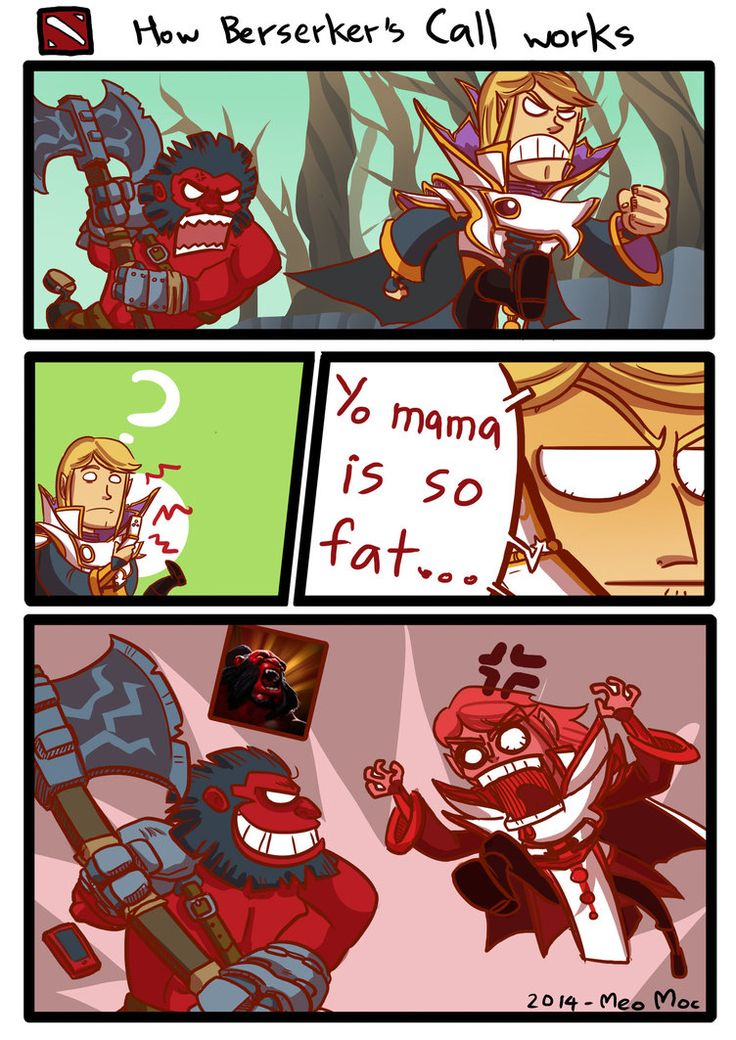 Dota 2 GAGs - How Berserker's Call works by MeoMoc