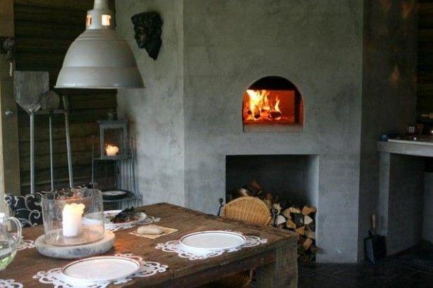 Prachtige+ingebouwde+houtgestookte+Fornino+pizzaoven