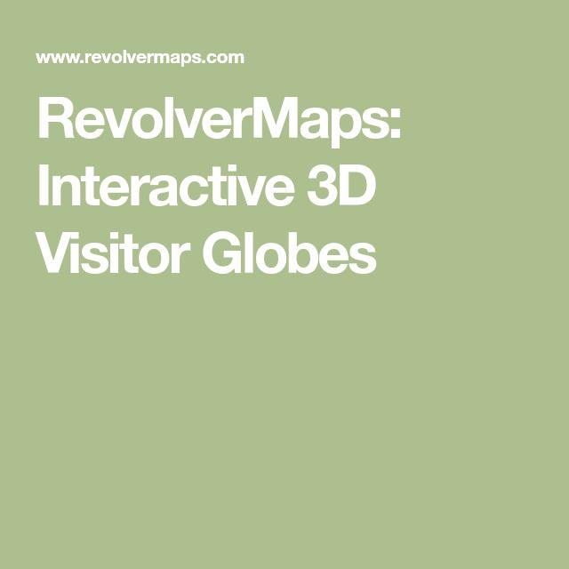 RevolverMaps: Interactive 3D Visitor Globes