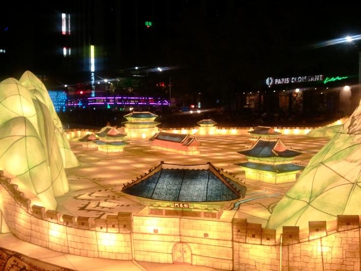 서울의 성곽 등불 Castle of Seoul Lantern