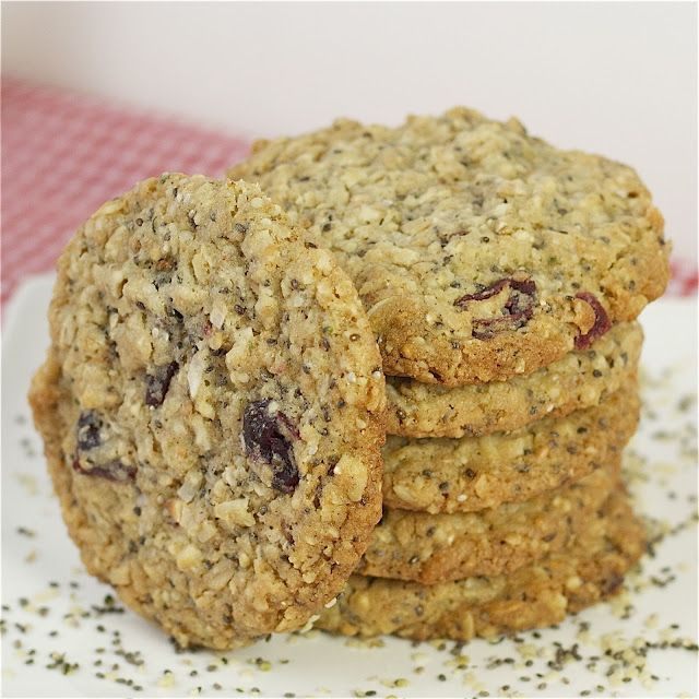 Hemp & Chia Seed Oatmeal Cookies - you won't believe how good these cookies are! Made with chia and hemp seed, multigrain flour. Add some extra nutrition to the kids snacks with these.