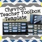 Chevron Teacher Toolbox Template - Editable