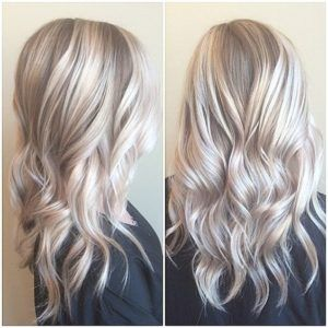 Icy Silver Blonde Hair Color