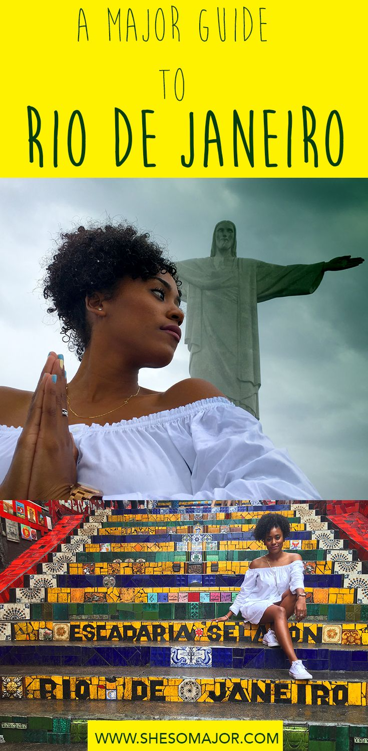 A Major Travel Guide To Rio De Janeiro, Brazil. Visit The Christ Redeemer, Selaron Steps..Read more on the blog.