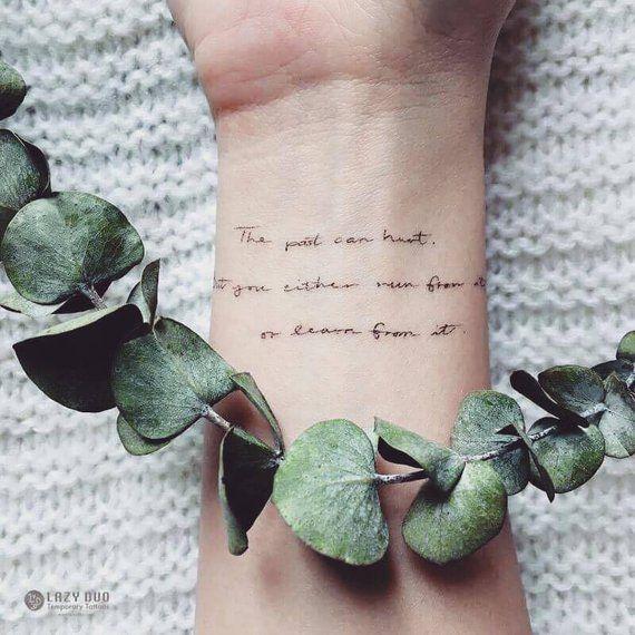 Tatouage d'amitié de tatouage d'amitié de tatouage d'amitié de tatouage temporaire durable de joies Carpe Diem Life Quote tatouage BBF autocollant de tatouage de citation   – tattoos