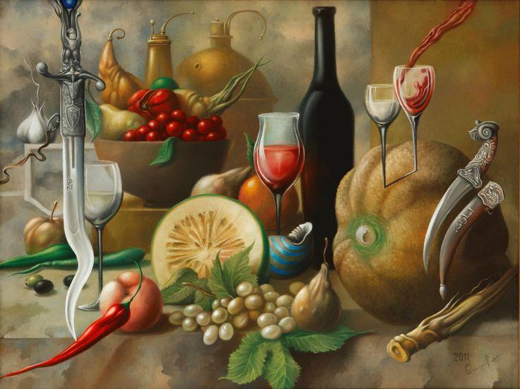 "2011 year. ""Still life with Arabian knives""  Oleg Osipoff Official Site: http://osipoff-art.com/"