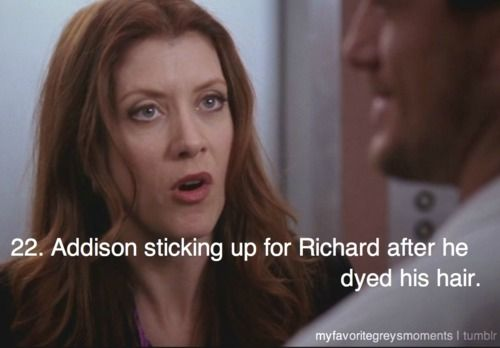 """""""This thing with Cristina. Dates the perfect 12-year old. Man-whore!"""" I love Addison Adrianne Forbes Montgomery Riley <3"""