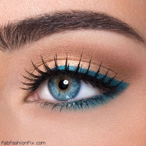 FabFashionFix - Fabulous Fashion Fix | Beauty: How to wear turquoise eyeliner for summer makeup routine?