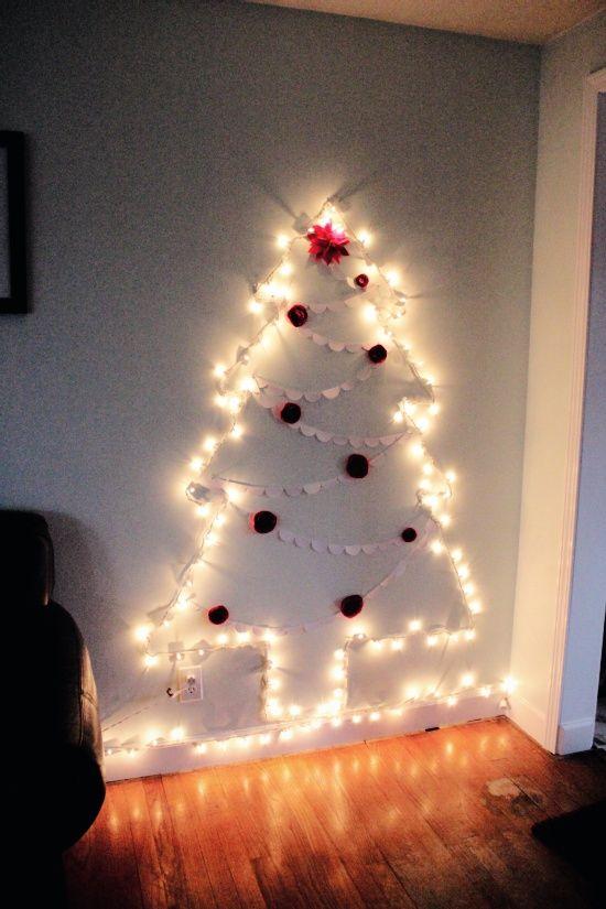 Best 25 Wall Christmas Tree Ideas On Pinterest
