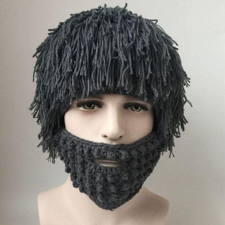 Novelty Beard Funny Wig Hats Handmade Cap Bonnet Knit Warm Winter Caps Unisex Men Women Kids Antumn Winter Warm Hats