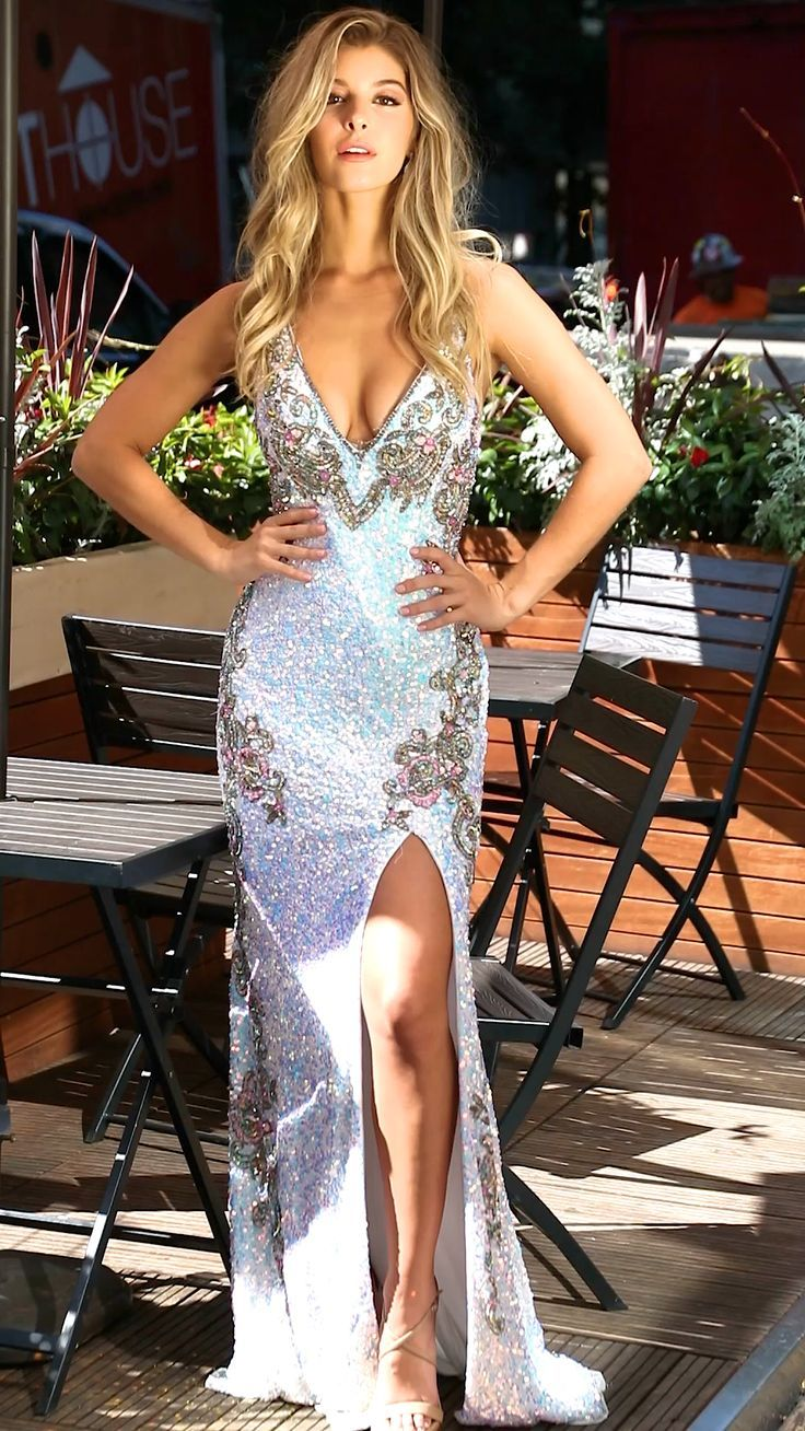 Primavera Couture 3211 Sequin Prom Dress Pageant Gown Evening Formal Wear In 2021 Trendy Prom Dresses Prom Dresses Stunning Prom Dresses [ 1308 x 736 Pixel ]