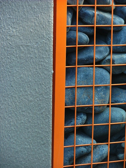 powder coated gabion. Why not have fun with colour?