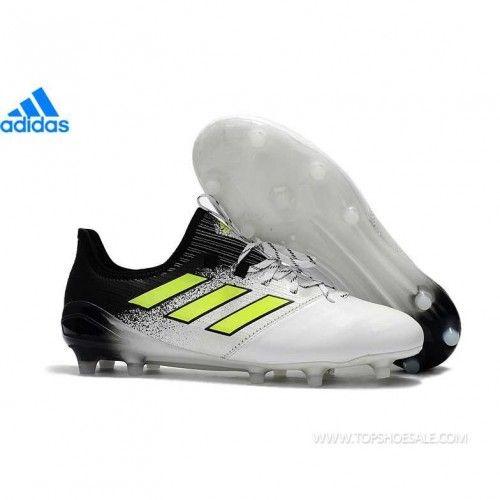 online retailer 2871b 8c5f7 adidas ACE 17.1 Leather FG S77041 MENS WHT YELLOE BLK SALE FOOTBALLSHOES