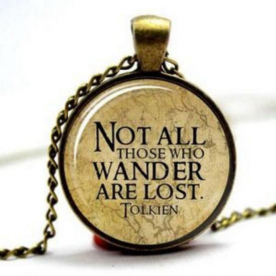 Tolkien Quote Necklace