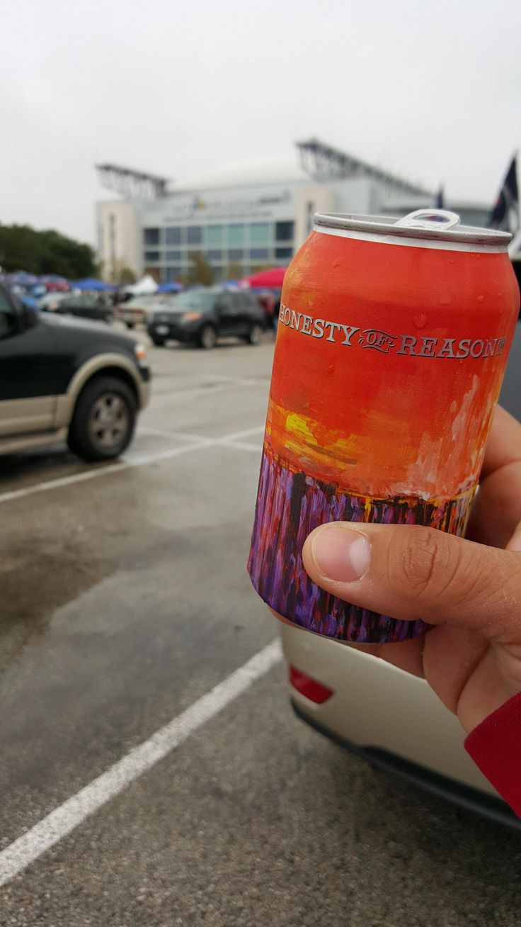 Honesty of Reason at a cold tailgate in Houston.