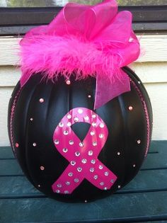 breast cancer pumpkin designs | Breast Cancer Awareness Ideas