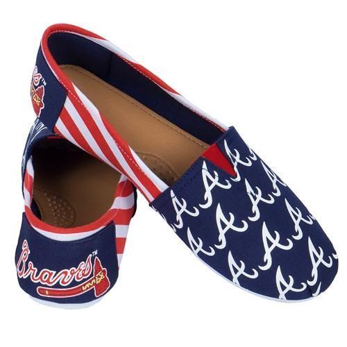 Atlanta Braves MLB Canvas Stripe Shoes