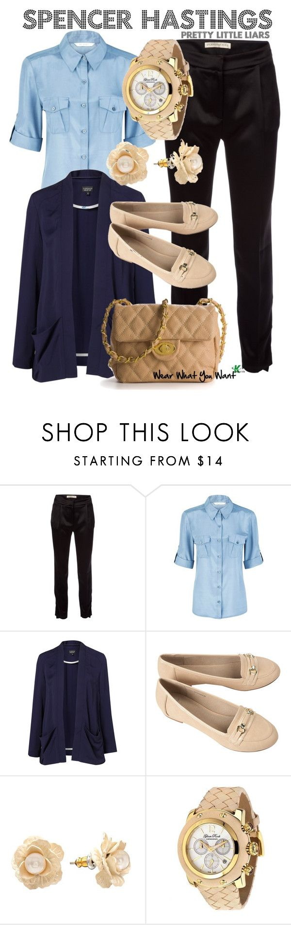 """""""Pretty Little Liars"""" by wearwhatyouwatch ❤ liked on Polyvore featuring Balenciaga, mel, Planet, Topshop, Lauren Conrad, Glam Rock, Urban Expressions, loafers, boyfriend blazers and cross body bags"""