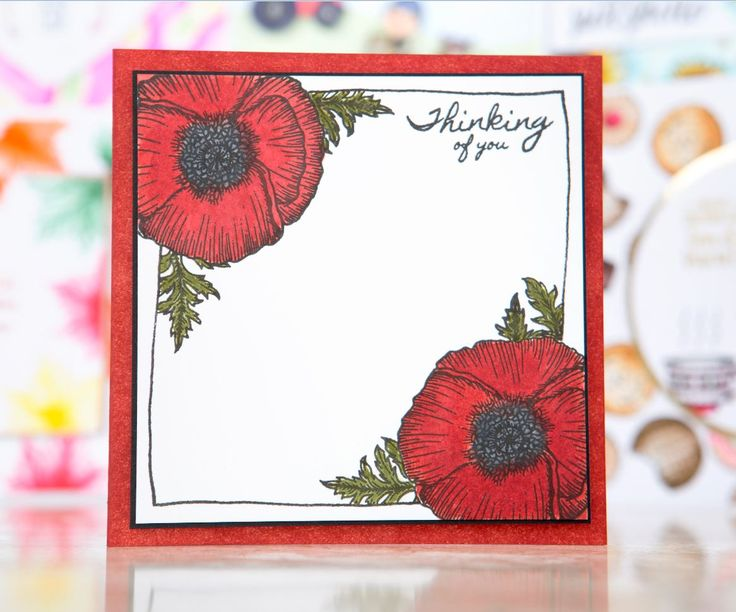 Stunning Thinking of You card design made using the For the Love of Stamps Ultimate Bundle from @hunkydorycrafts! Shop the range at C&C! / cardmaking / stamping / papercraft / craft / scrapbooking